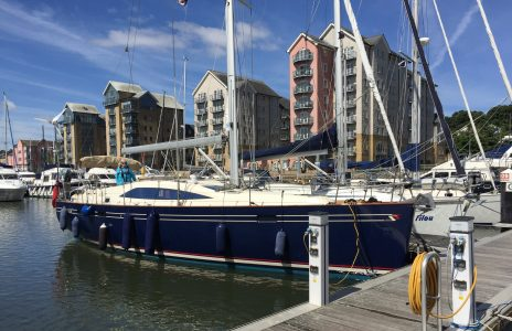 Toby's sailing boat Poli Poli